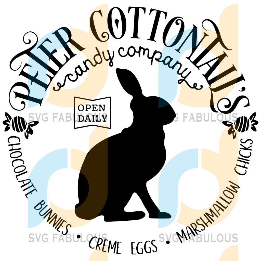 Peter Cottontails Candy Company Logo Svg, Trending Svg, Chocolate Bunny Svg, Bunny Svg, Rabbit Svg, Creme Eggs Svg, Easter Svg, Easter Bunny Svg, Easter Rabbit Svg, Bunny Logo Svg, Rabbit