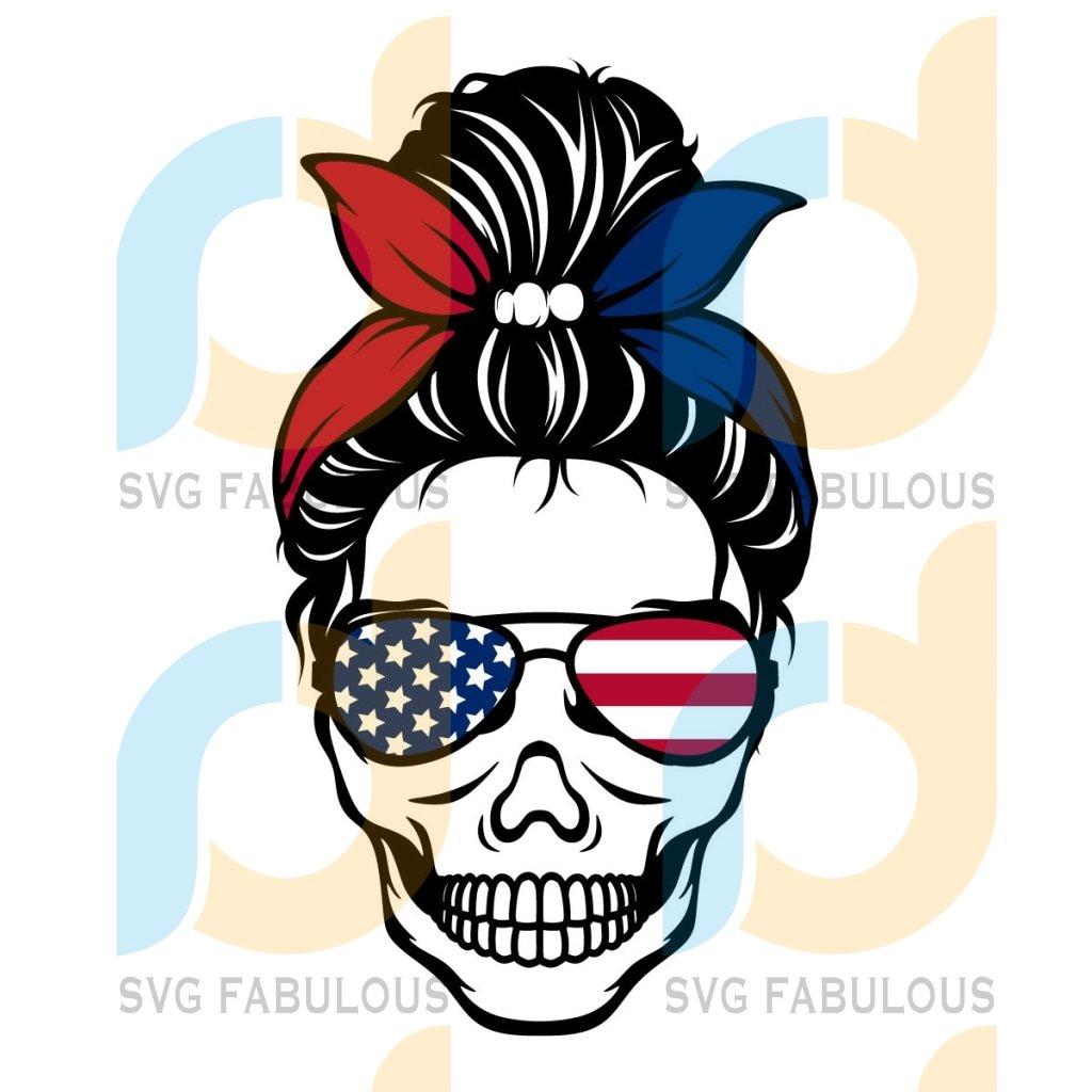 4th Of July Svg, Trending Svg, Skull Svg, Messy Bun Skull Svg, American Lover Svg, American Flag Svg, American Girls Svg, Independence Day Svg, Patriotic Svg, Fourth Of July Svg, July 4th Svg, Memorial Day Svg