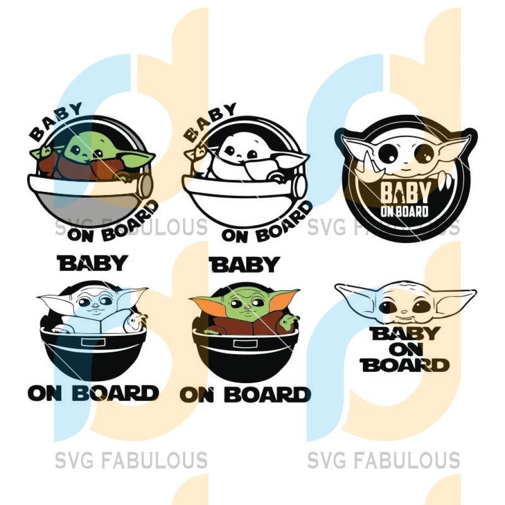 Baby Yoda Bundle png svg, Cricut Star Wars Art Baby on Board Cricut Digital Download