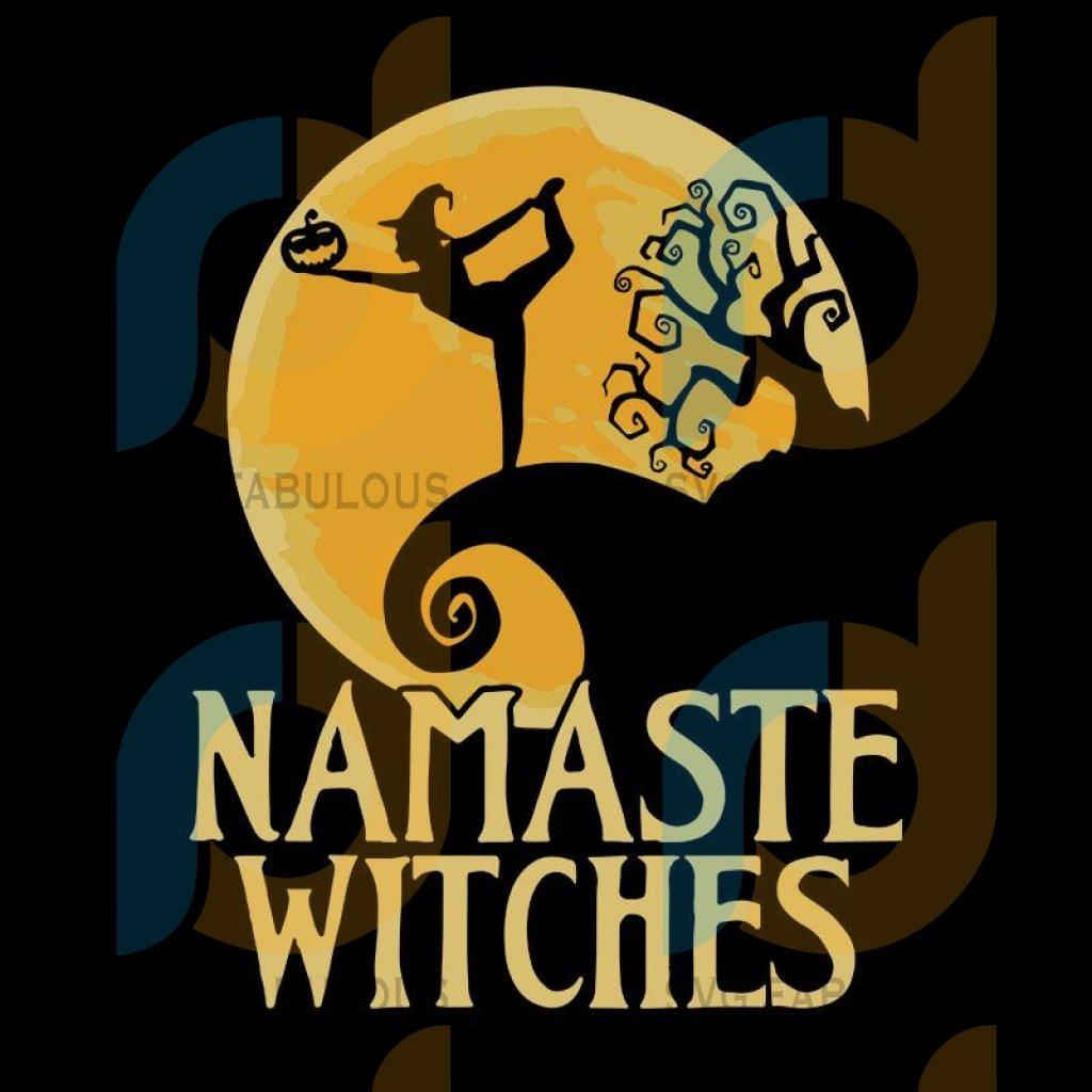 Namaste Witches Yoga Halloween namaste yoga, namaste yoga svg, namaste yoga png