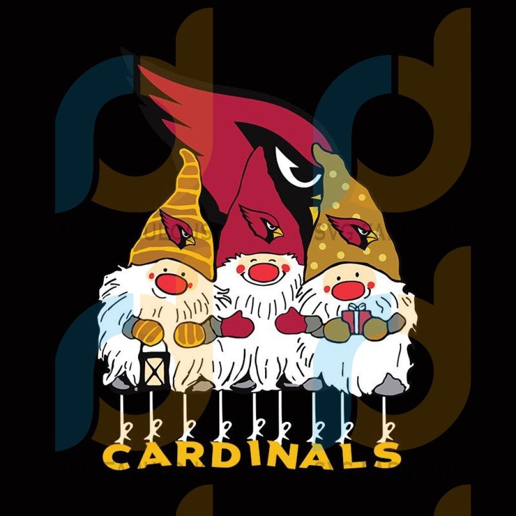Gnomies CARDINALS Christmas svg