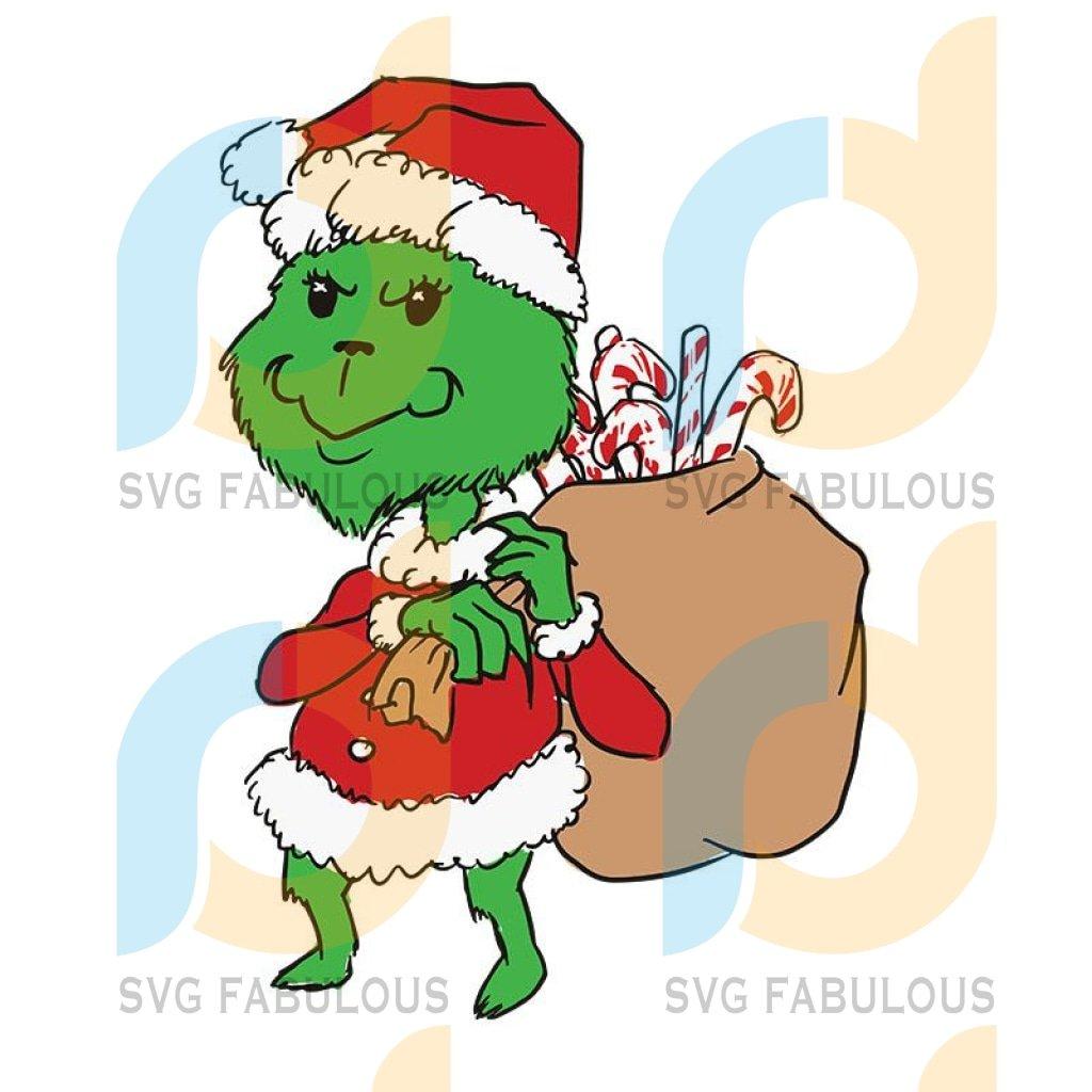 Grinch Christmas Svg, Xmas The Grinch svg Digital