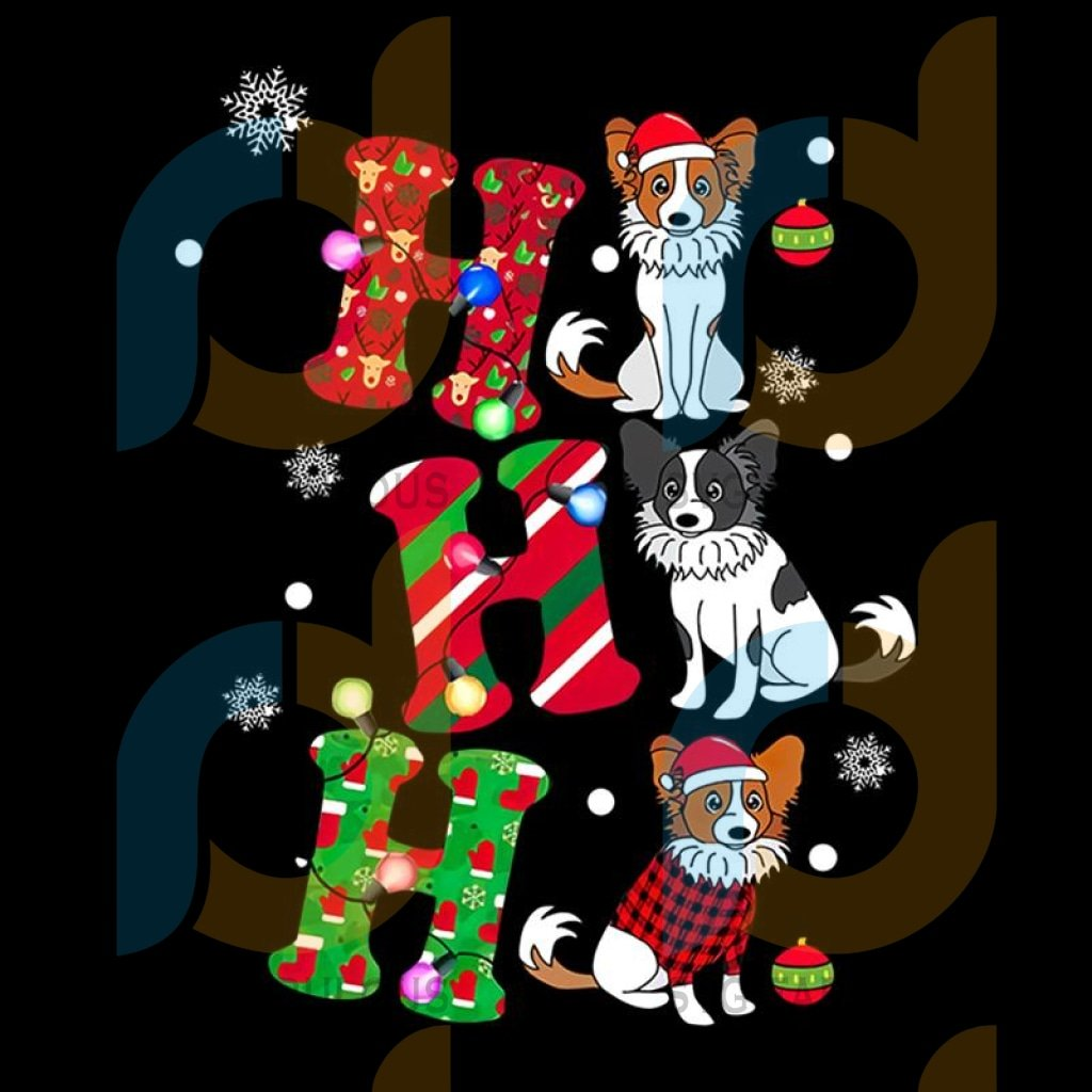 Ho Ho Ho Christmas Animal Papillon svg, Christmas Disney Vacation svg, Merry Christmas, Pull Dog Xmas, Christmas Gift 2020, Ugly Christmas