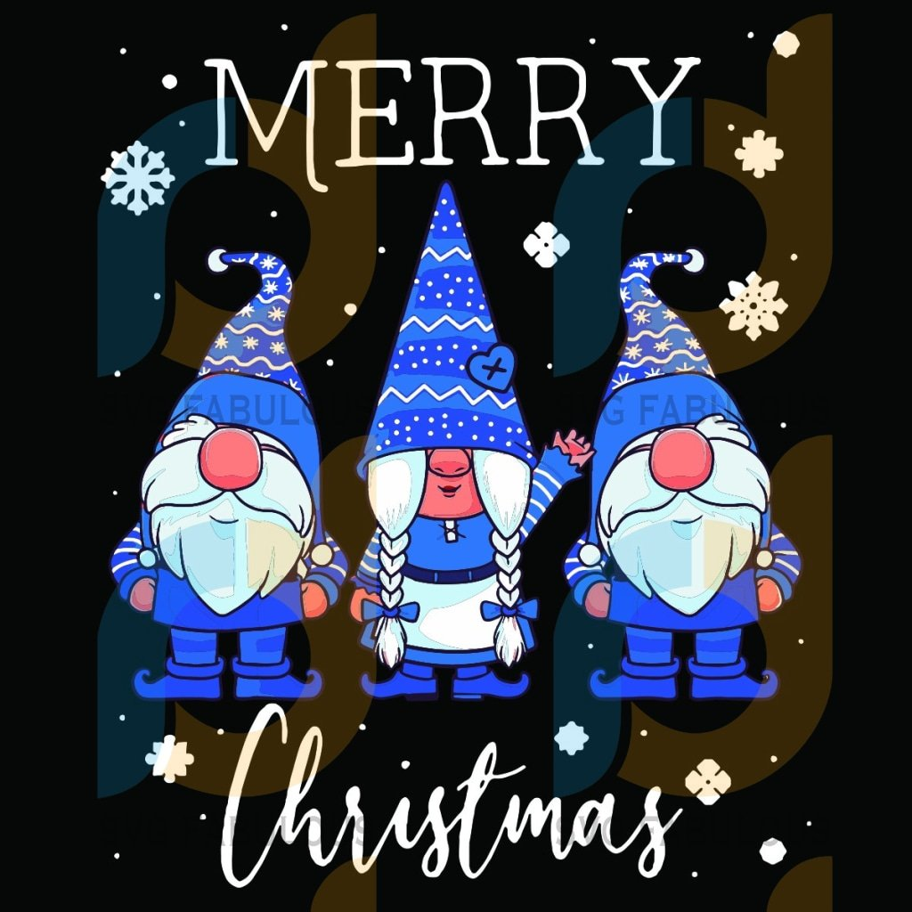 Merry Christmas Svg, Christmas Svg, Christmas Gnome Svg, Gnome Svg, Blue Gnome SVg, Snowflake Svg, Christmas Gifts, Christmas Holiday, Christmas Party Svg, Christmas Celebration Svg, Santa Claus Svg,
