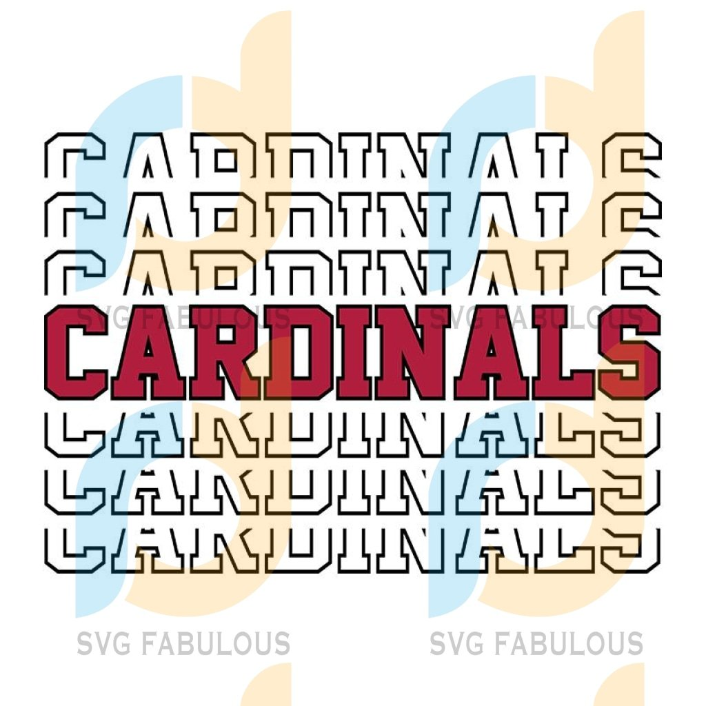 CARDINALS mirrored word SVG, PNG, SUBLIMATION