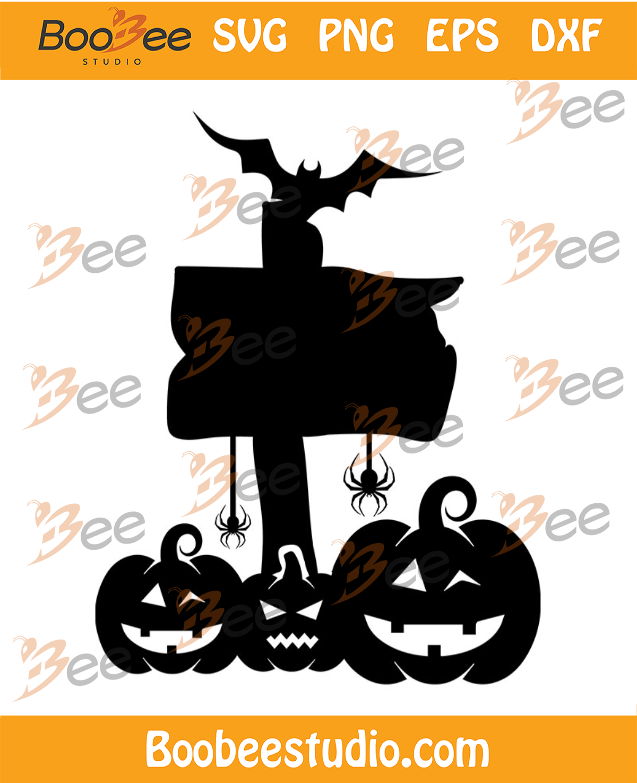 Pumpkin Smile Bat And Spider Svg, Halloween Svg, Halloween Pumpkin Svg