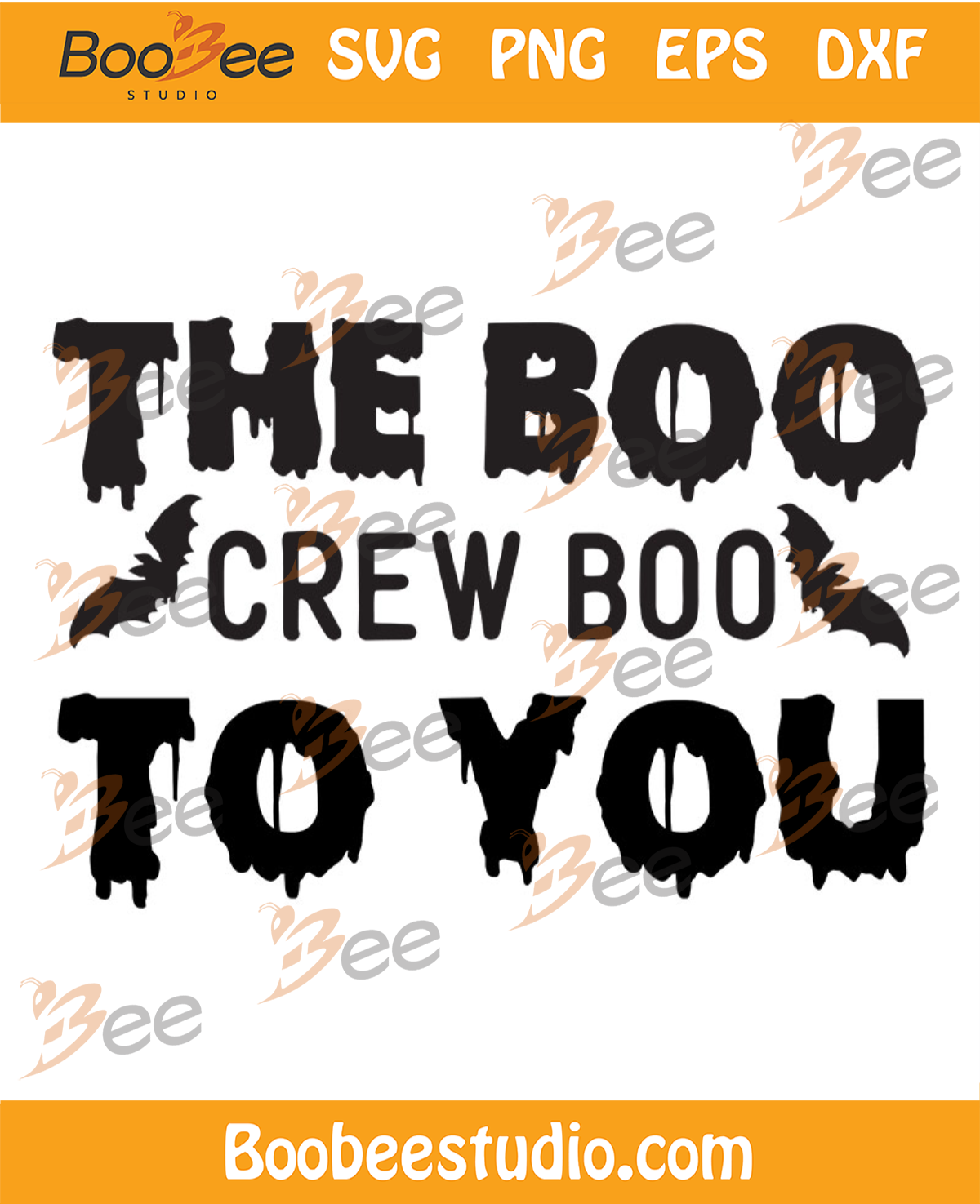 The Boo Crew Boo To You Svg, Halloween Svg, Crew Boo Svg