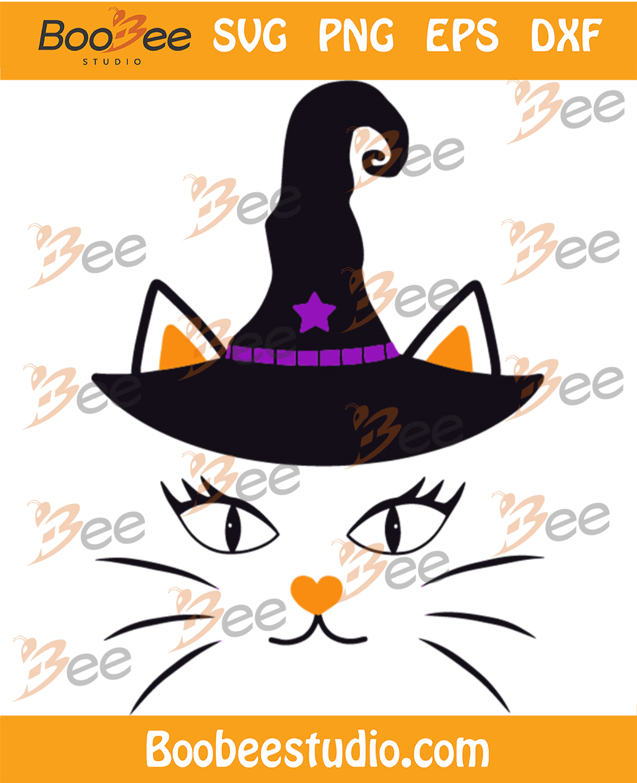 Witch Cat Cute Svg, Halloween Svg, Halloween Cat Svg, Cute Cat Svg
